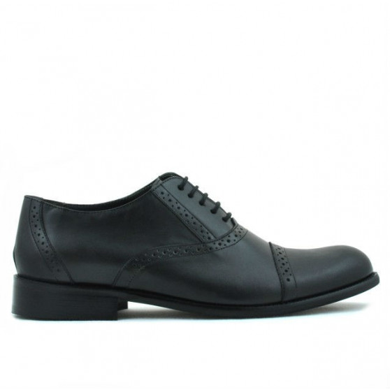 Men stylish, elegant shoes 801 black