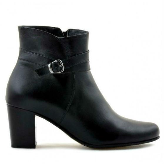 Women boots 1160b black fur