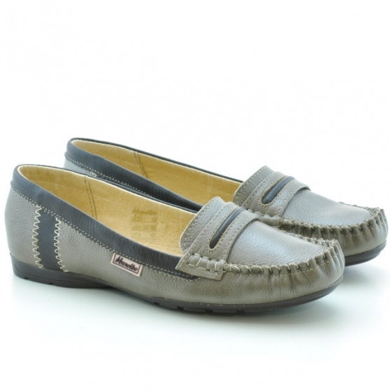 Women loafers, moccasins 619 sand+cafe