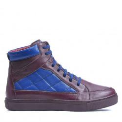 Men boots 487 bordo+indigo