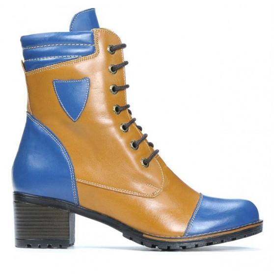 Women boots 3279 indigo+brown