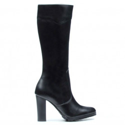Women knee boots 1163 black