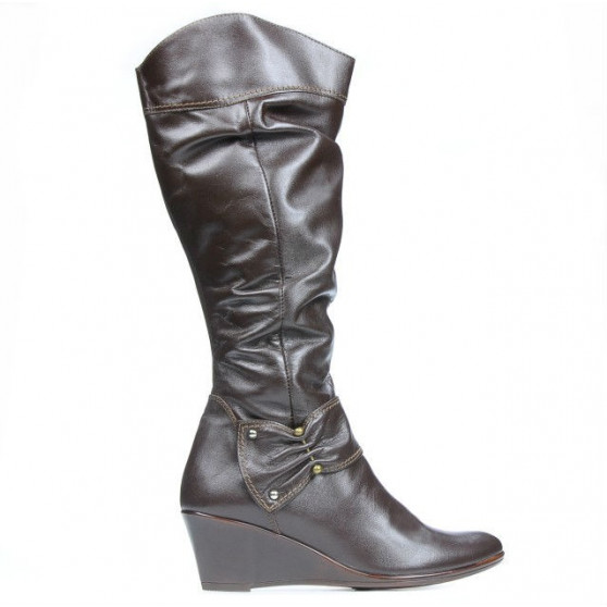 Women knee boots 230 cafe