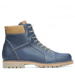 Men boots 489 tuxon indigo+brown