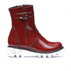 Children boots 33c patent burgundy