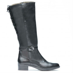 Women knee boots 3303 black
