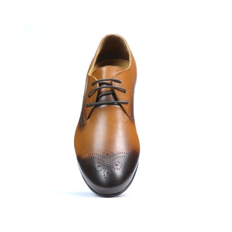 dimensiunea 40 pantofi eleganti nuante de Pantofi eleganti barbati 828 a maro. Piele naturala.