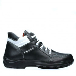 Teenagers boots 436 black+white