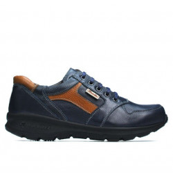 Teenagers stylish, elegant shoes 397 indigo+brown