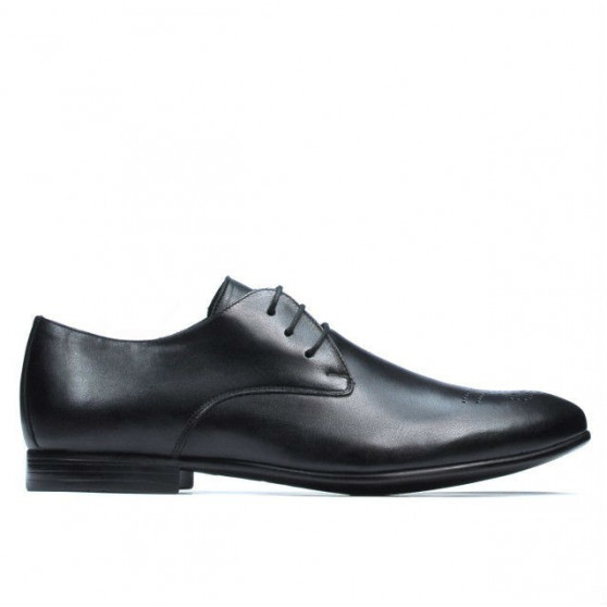 Men stylish, elegant shoes 828 black