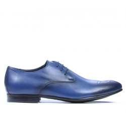 Men stylish, elegant shoes 828 a indigo