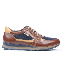 Men sport shoes 833 brown+indigo