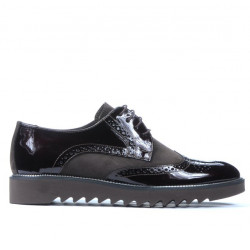 Men casual shoes 831 patent cafe combined