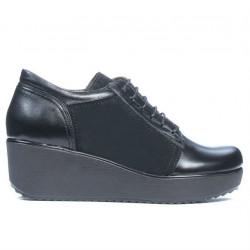 Pantofi casual dama 668 negru combinat