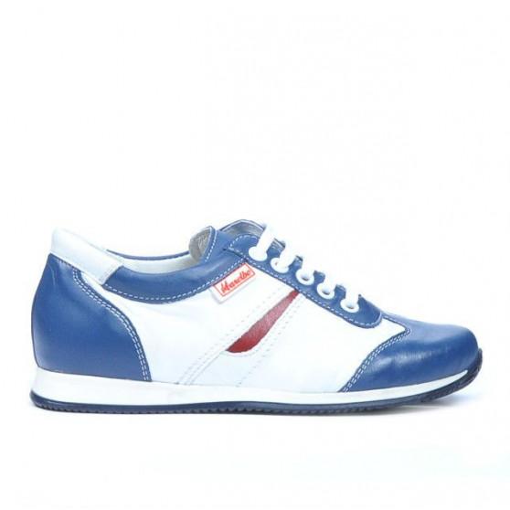 Pantofi copii 136 indigo+alb