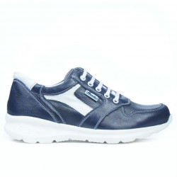 Teenagers stylish, elegant shoes 397 indigo+white