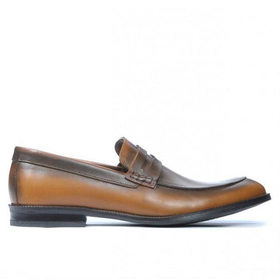 Men stylish, elegant shoes 815 a brown
