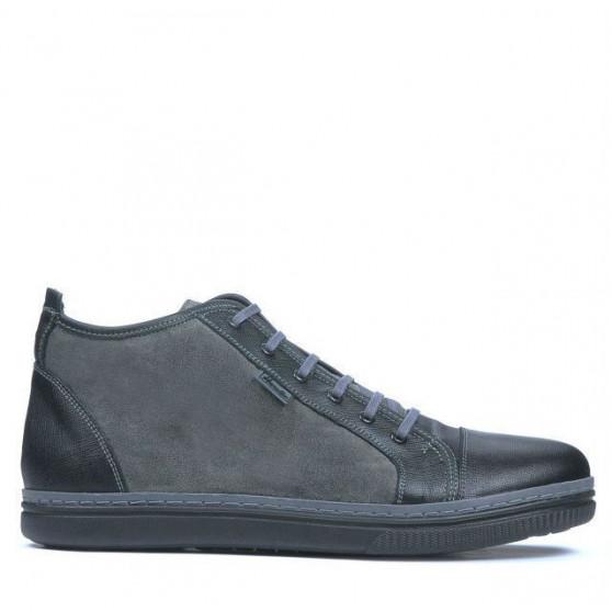 Men boots 480 black+gray