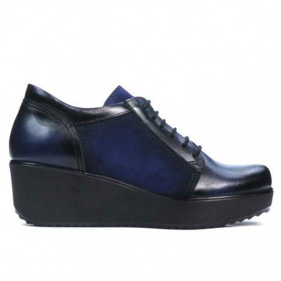 Pantofi casual dama 668 indigo combinat
