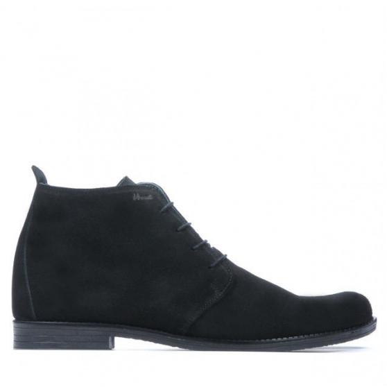 Men boots 412 black velour