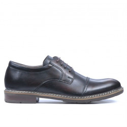 Men stylish, elegant, casual shoes 756-1 a brown