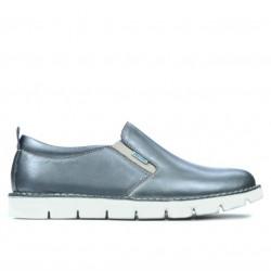 Pantofi casual dama 7002 argintiu