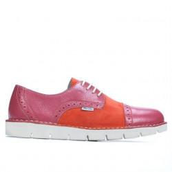Pantofi casual dama 7001 roz combinat