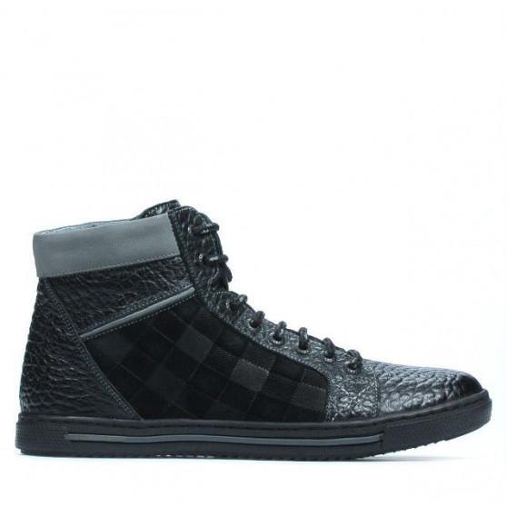 Men boots 467 black+gray
