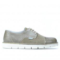 Pantofi casual dama 7001 nisip combinat