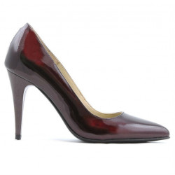 Women stylish, elegant shoes 1246 patent bordo 01