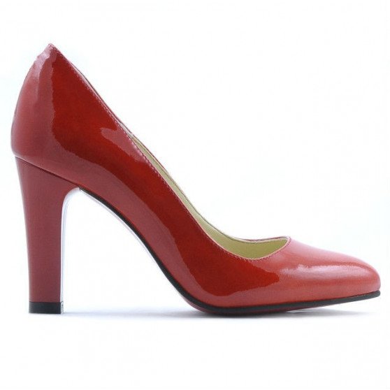 Pantofi eleganti dama 1243 lac rosu01