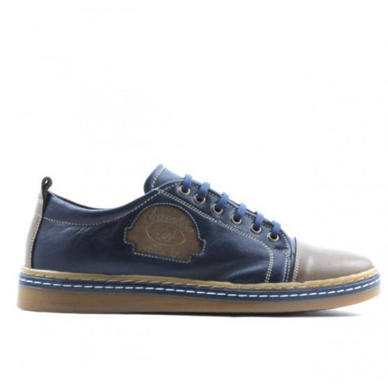 Teenagers stylish, elegant shoes 392 brown+indigo