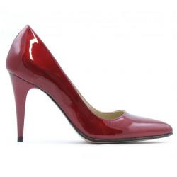 Pantofi eleganti dama 1246 lac bordo