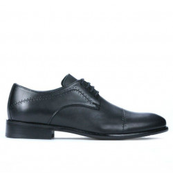 Men stylish, elegant shoes 822 black