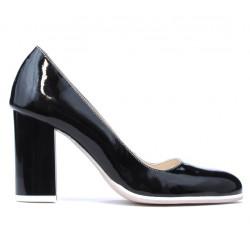 Women stylish, elegant, casual shoes 1254 patent black