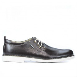 Men casual shoes (large size) 7201m cafe