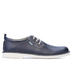 Men casual shoes (large size) 7201m indigo