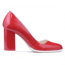 Women stylish, elegant, casual shoes 1254 patent red