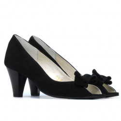Women sandals 1255 black antilopa