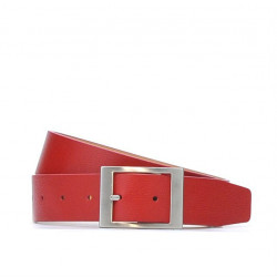 Women belt 02m red biz