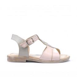 Small children sandals 40c patent beige+pink