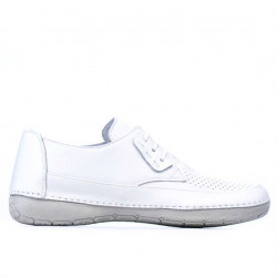 Women loafers, moccasins 672 white