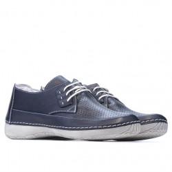 Women loafers, moccasins 672m indigo