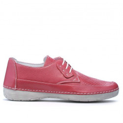 Women loafers, moccasins 672 pink