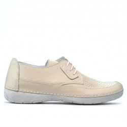 Women loafers, moccasins 672m beige