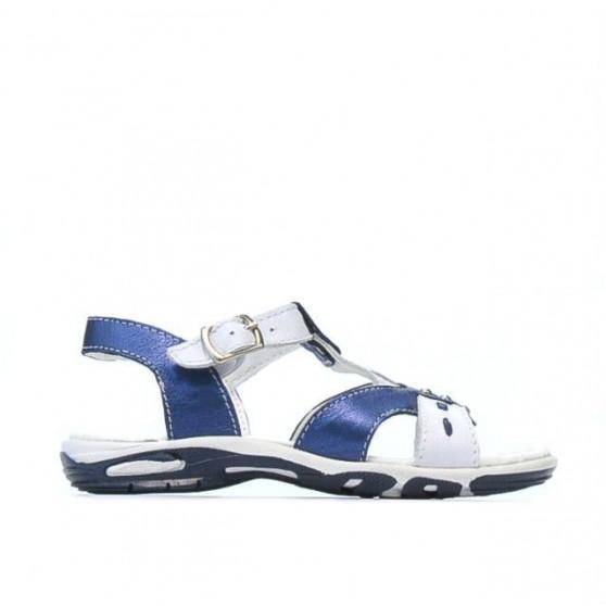 Small children sandals 10c indigo+white