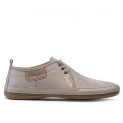 Men loafers, moccasins 865 beige+sand