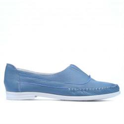 Women loafers, moccasins 675 bleu