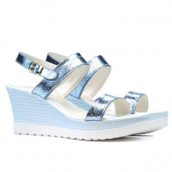 Sandale dama 5031 bleu argento