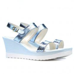 Women sandals 5031 bleu argento